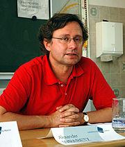 ORF-Generaldirektor Alexander Wrabetz bei einer Diskussionsveranstaltung im Rahmen des Europäischen Forums Alpbach (2005)