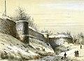 Alexander Schaepkens, Brusselsepoort en westelijke stadsmuur, Maastricht , ca 1870.jpg