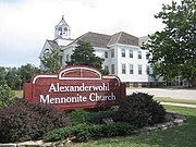 Alexanderwohl Mennonite Church building