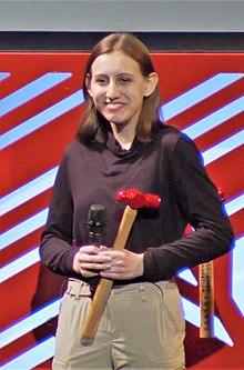 Alexandria Villaseñor receiving Tribeca Disruptive Innovation award.jpg