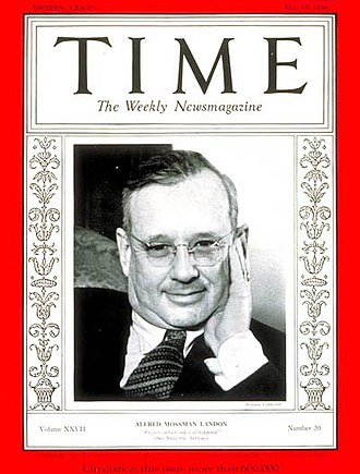 Alf Landon - Cover of Time magazine, 18 May 1936