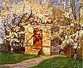 Alhed Larsen Havehuset med blomstrende kirsebær.jpg