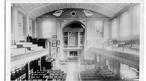 All Saints' Church, Southampton - Interior of the church in 1910