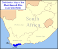 Aloe brevifolia - Distribution Map - South Africa.png