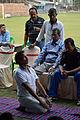 Aloke Kumar Das Demonstrates Vajrasana - Football Workshop - Nisana Foundation - Sagar Sangha Stadium - Baruipur - South 24 Parganas 2016-02-14 1377.JPG