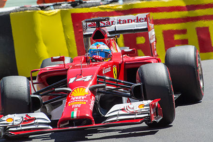 Fernando Alonso au Grand Prix automobile de Monaco 2014.