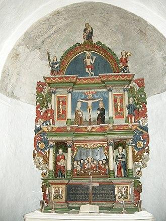 Kirkegrenda - Image: Altertavle Rygge