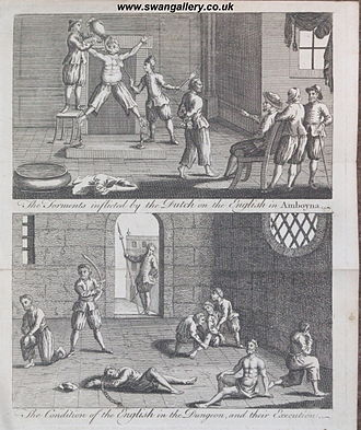 Waterboarding - Torture of the English by the Dutch according to the English account