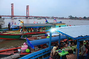 Ampera Bridge at Late Afternoon, Palembang