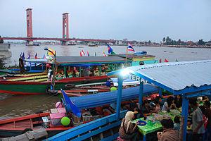 Ampera Bridge at Late Afternoon, Palembang