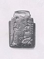 Amulet with fighting demons; on reverse- Ishtar enthroned and worshiper MET ME86 11 3A.jpg