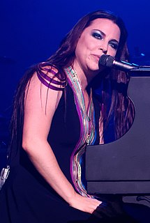 Amy Lee American singer, co-founder and lead vocalist of the rock band Evanescence