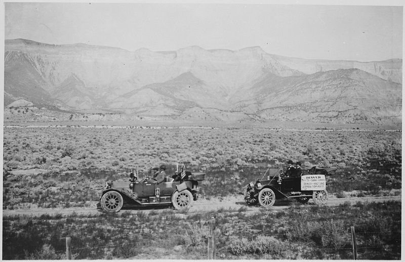 AAA officials on a transcontinental auto trip