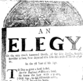 An elegy on the very much lamented death, of Sir Toby Buttler, Knight Barrister at Law, how (sic) departed this life this 11th of March 1720 21 Fleuron T000397-2.png