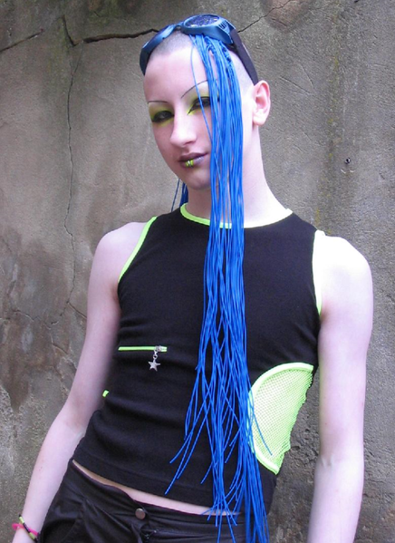 Cyber Hairstyle. Image Source. Cyber is the name given to a contemporary