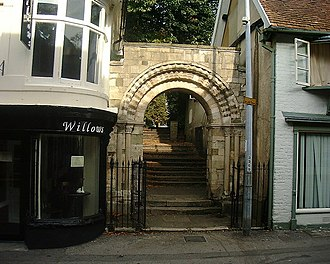 Andover, Hampshire - Norman arch c. 1150. All that remains of the Old Church of St Mary.