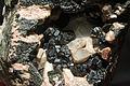Andradite var. melanite, aragonite 7100.0370.jpg