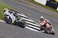 Andrea Dovizioso and Nicky Hayden 2008 Donington Park 2.jpg