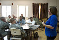 Angela Sherbenou, a senior adviser with the Office of U.S. Foreign Disaster Assistance and a U.S. Africa Command civilian and military adviser, leads the Joint Humanitarian Operations Course at Camp Lemonnier 120823-F-VS255-009.jpg
