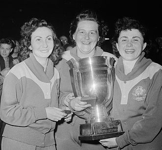 Sari Szasz - Angelica Rozeanu, Sari Szasz and Ella Zeller at the 1955 World Championships