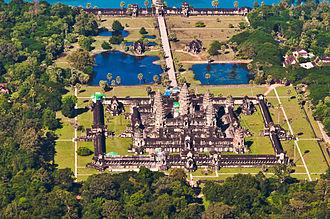 Vastu shastra - Image: Angkor Wat Aerial View Siem Reap Cambodia 2011