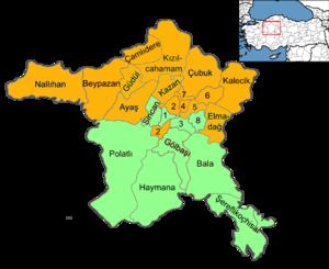 Ankara (electoral districts) - Image: Ankara electoral districts