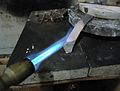 Annealing a silver strip.JPG
