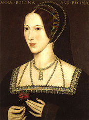 Anne Boleyn, Henry's second queen, painted after her death.