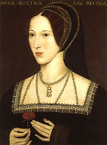 Anne Boleyn. Later copy of an original portrait, which was painted c.1534.