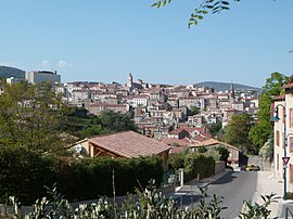 Annonay, view from the Aygas rise.