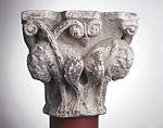 Anonyme toulousain - Chapiteau de colonne simple , Lions dans des lianes - Musée des Augustins - ME 220(3).jpg