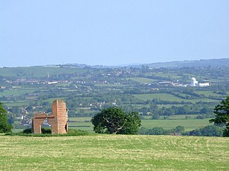 South Somerset - Image: Ansford from Ditcheat Hill geograph.org.uk 454856