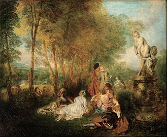 Jean-Antoine Watteau - The Feast (or Festival) of Love (1718–1719)