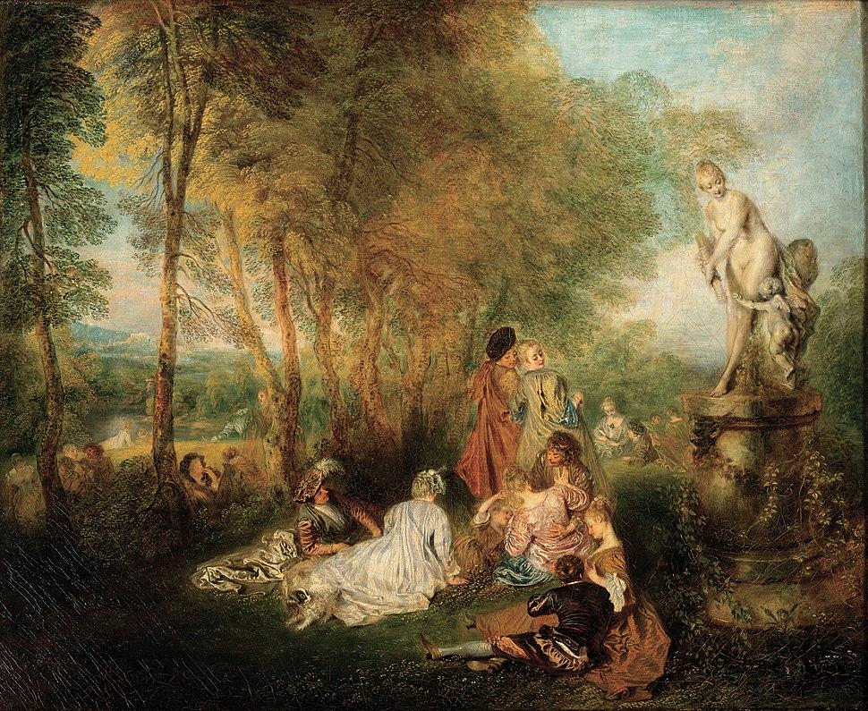 Antoine Watteau - The Feast of Love - Google Art Project