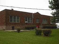 Appanoose School, built in 1919, in Appanoose Township.