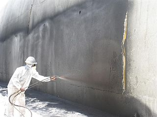 Waterproofing process of making an object or structure waterproof or water-resistant