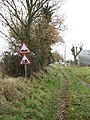 Approaching the railway crossing - geograph.org.uk - 1060302.jpg