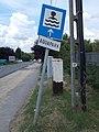 Aquaréna waterpark road sign, Gödöllői Road, 2020 Mogyoród.jpg