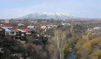 Ashtarak - Mount Aragats overlooking Ashtarak