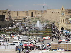 Arbil Citadel from the 3rd floor of the opposite shopping center.jpg