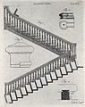 Architecture; a dog-leg staircase and details. Engraving by Wellcome V0024285ER.jpg