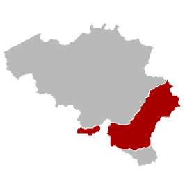 Kaart van Ardennen