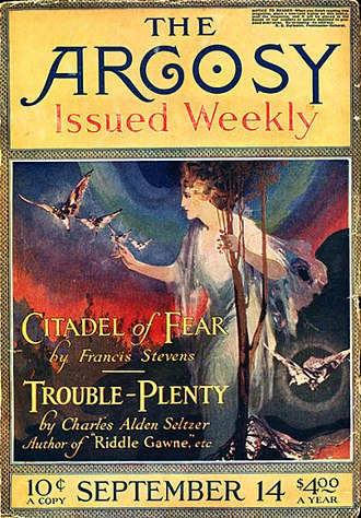 Gertrude Barrows Bennett - Citadel of Fear was serialized in The Argosy in 1918