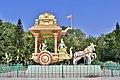 Arjuna's chariot in Geethopadesam park, Tirumala (May 2019) 2.jpg
