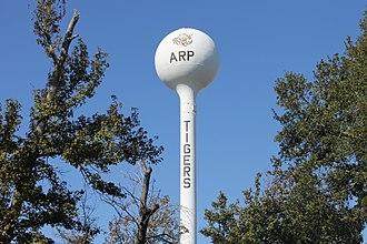 Arp, Texas - Water tower in Arp, Texas