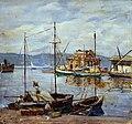 Artgate Fondazione Cariplo - Menato Giuseppe, Mattino nel porto di Cagliari.jpg