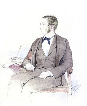 Arthur Purves Phayre - Portrait by Colesworthey Grant (1855)