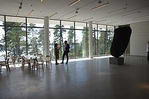 Artipelag - View over the bay Baggensfjärden from the main hall