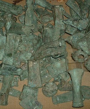 Assorted bronze castings.JPG