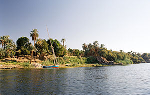 Elephantine - West bank of Elephantine Island on the Nile